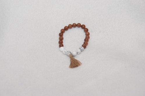 Duo Beaded Bracelet with Tassel