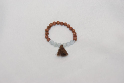 Duo Beaded Bracelet with Tassel