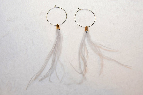 Hoops with Feathers