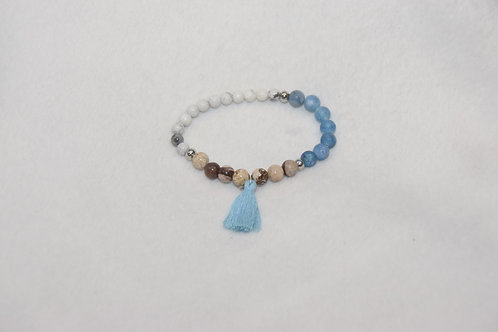 Trio Beaded Bracelet with Tassel