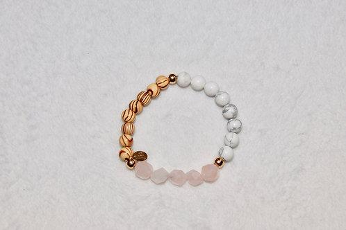 Trio Beaded Bracelet with Wood