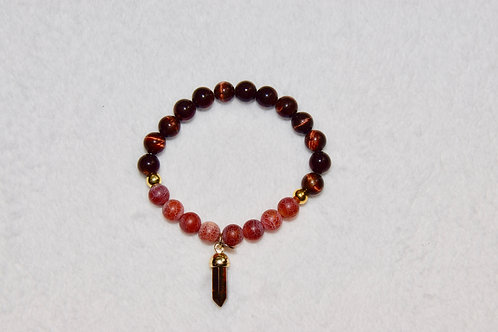 Duo Beaded Bracelet with Charm