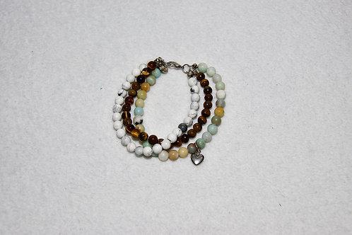 Triple Strand Beaded Bracelet
