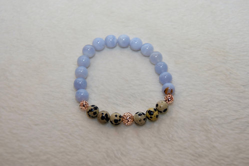 Duo Beaded Bracelet with Gold Bead Charm