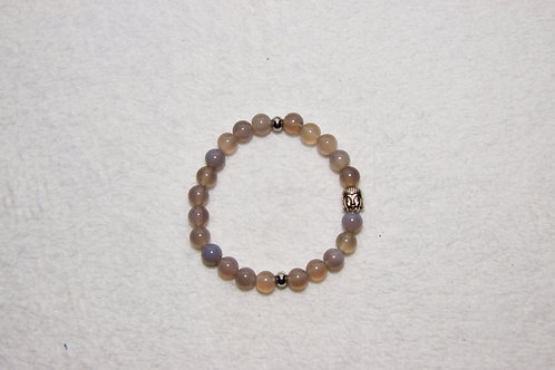 Beaded Bracelet with Buddha Charm
