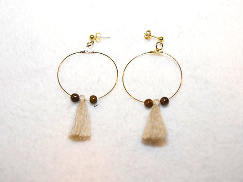 Hoops with Tassels and Stones