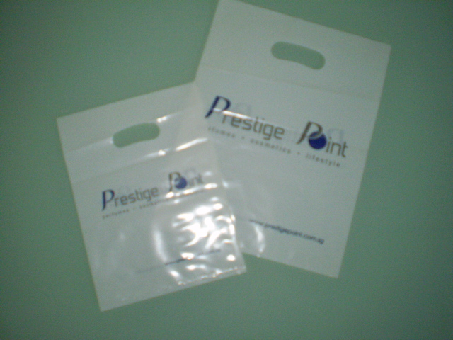 White LDPE Printed 2col