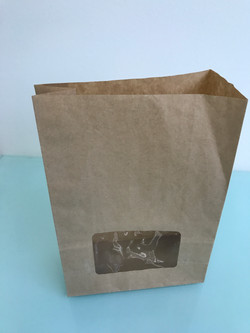Kraft bags with window