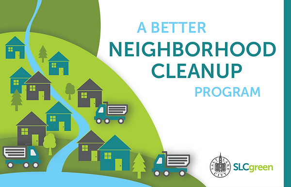 a better neighborhood cleanup postcard image