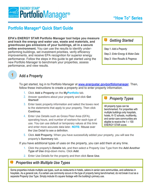 Portfolio Manager quick start guide