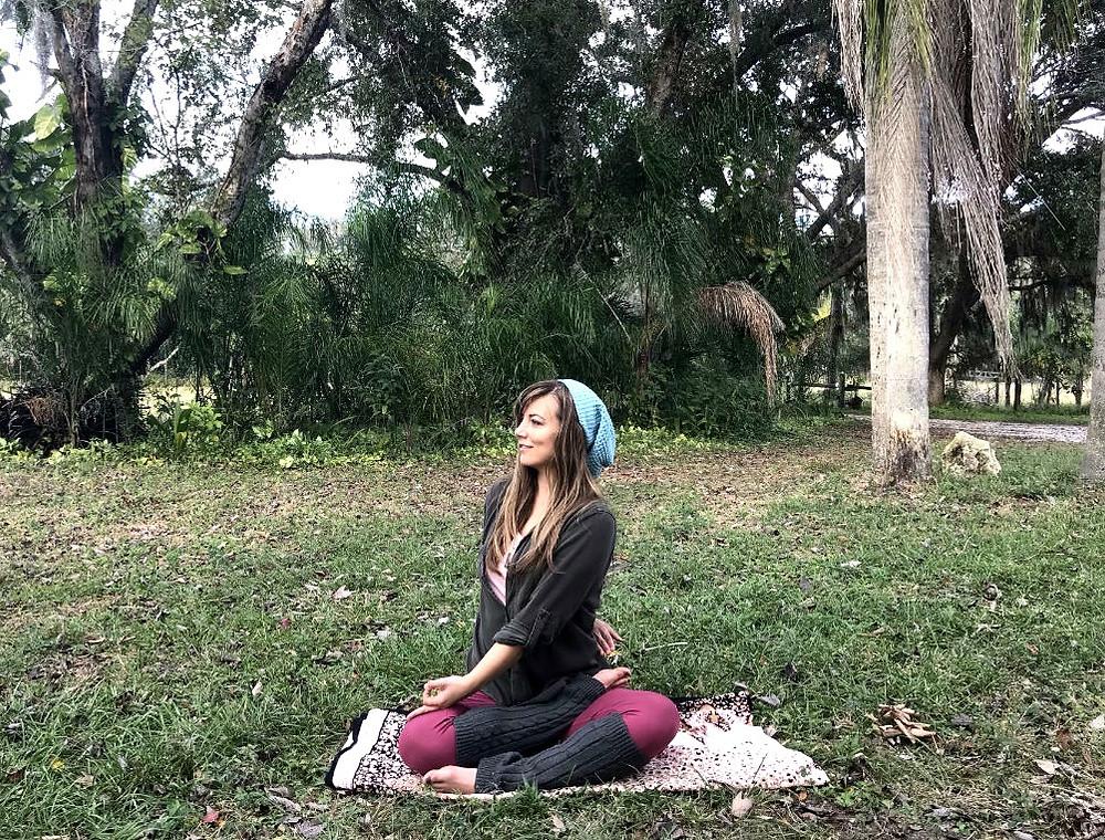 Yoga Pose Seated Twist Half Lotus