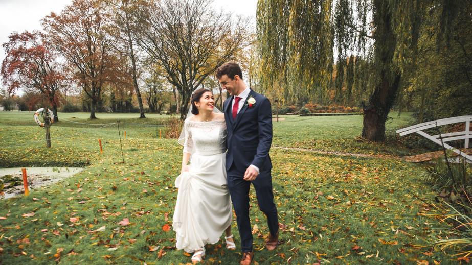 Ampfield Golf Club, Winchester, Autumn Wedding