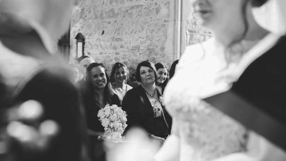 Intimate wedding in a small medieval Church in Buckinghamshire