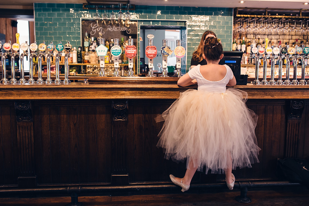 Flower Girl at Drayton Court Hotel Claire Bemister Photography