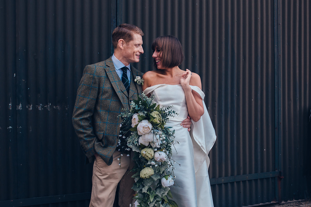 bride groom couple portrait reigate golf club wedding Claire Bemister photography