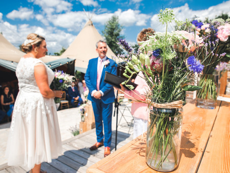 A Tipi Wedding in The Back Garden: A Relaxed Sussex Summer Family Wedding at Home