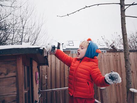 Big kids, little snow.