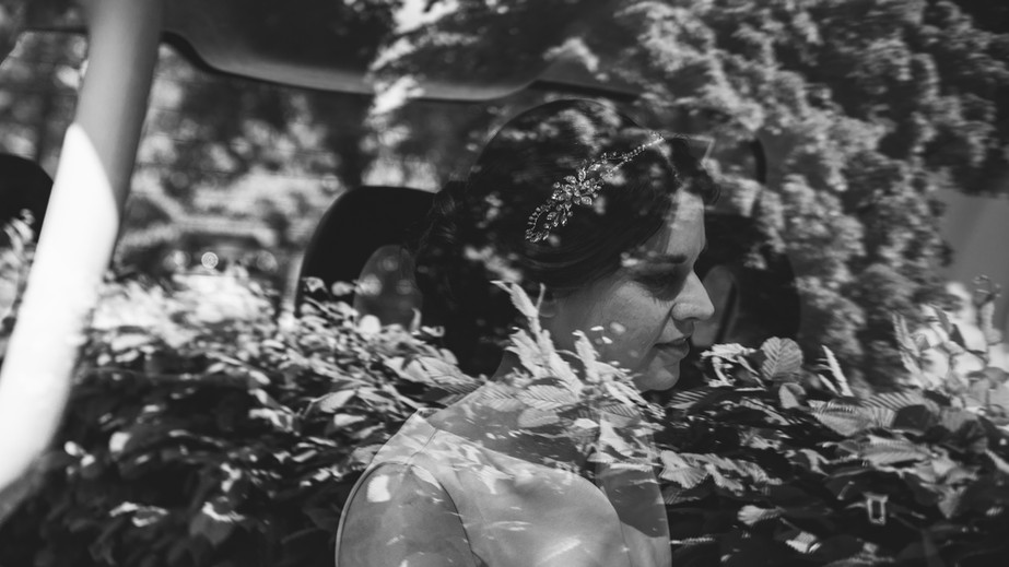 Bride with Reflections, Spring Wedding at Orleans House Gallery