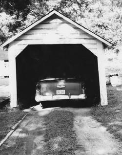 Old car in garage Hampton Heights