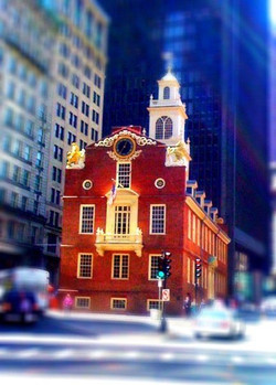 Old State House In Blue