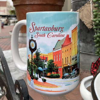 East Main Street Spartanburg Deluxe Mug.