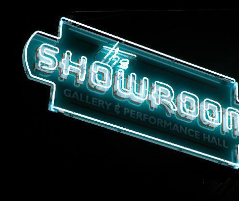 The Showroom Logo and Neon Sign