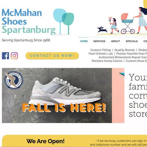 McMahan Shoes Spartanburg Website