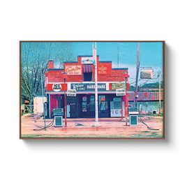 Framed Pecan 16x24 Canvas