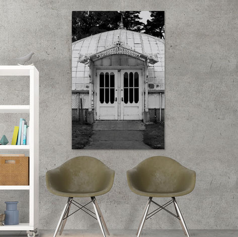 MOCK UP Bookcase chairs wall 48x32 Squar