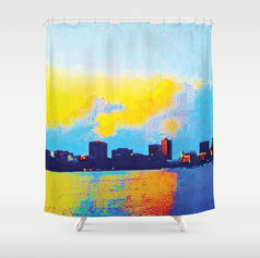 Charles River Cambridge Shower Curtain