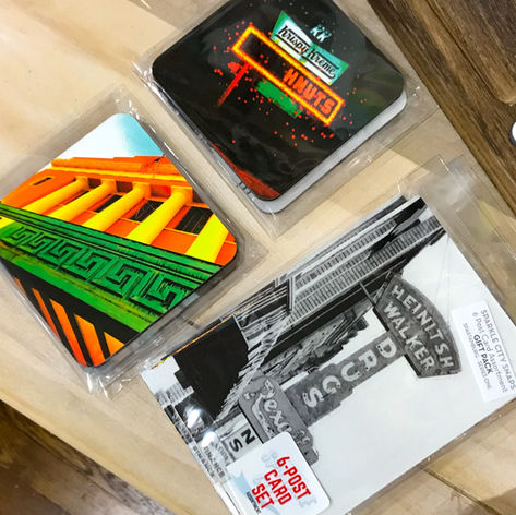 Assorted Coasters and Post Card Set