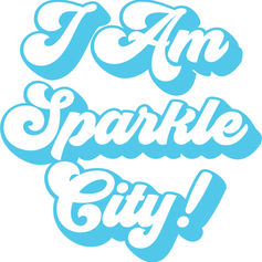 I Am Sparkle City Logo Seventies Style P