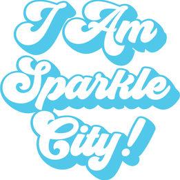 I Am Sparkle City Logo Seventies Style P