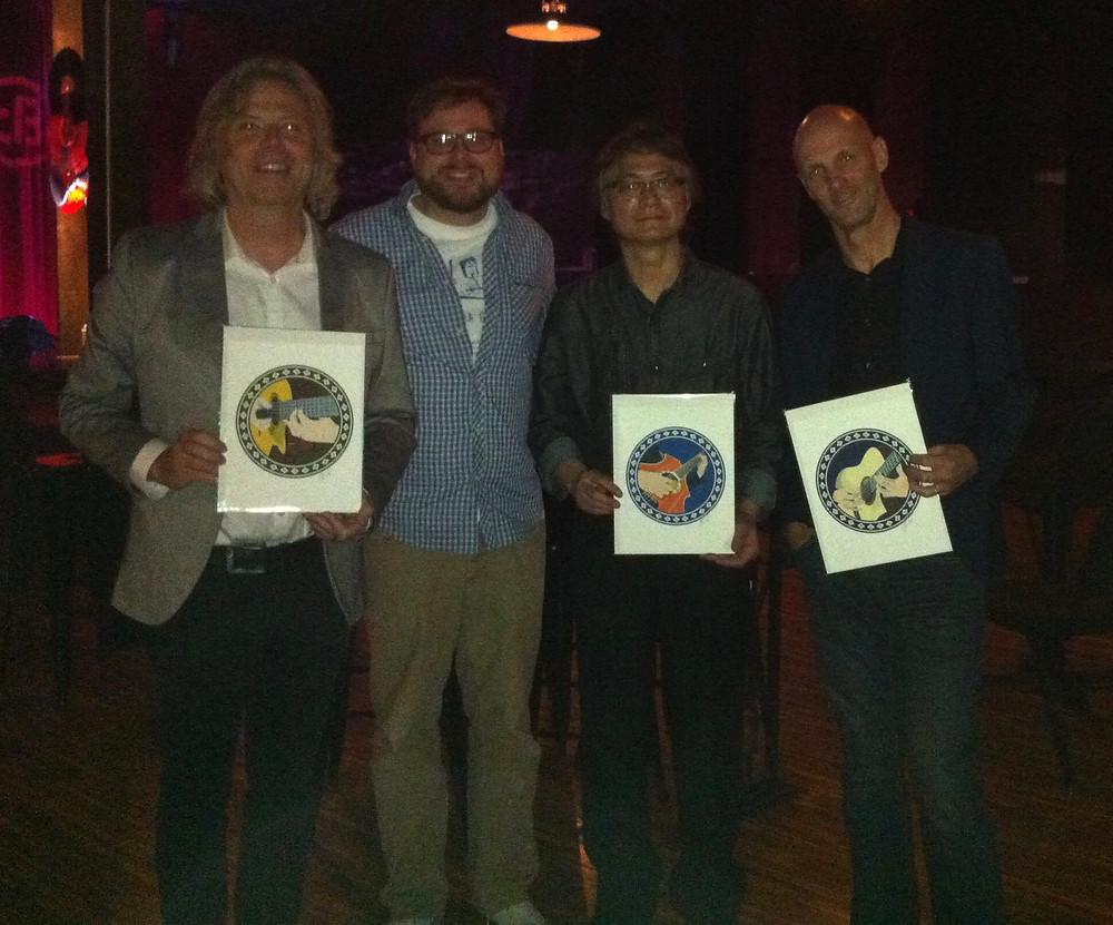 Paul Richards, myself, Hideyo Moriya and Bert Lams