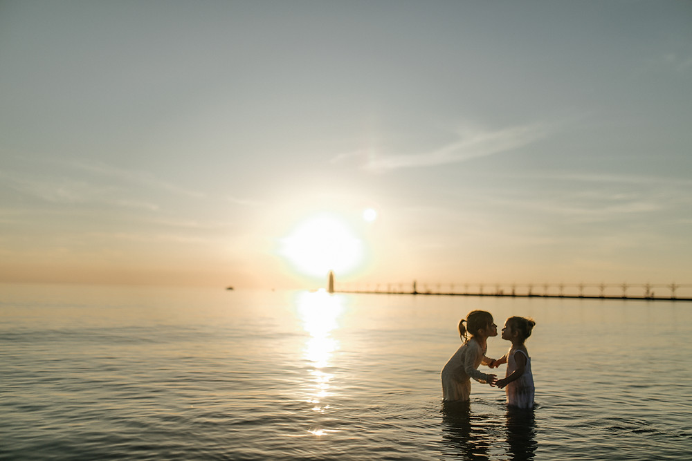 South haven lighthouse, family photography