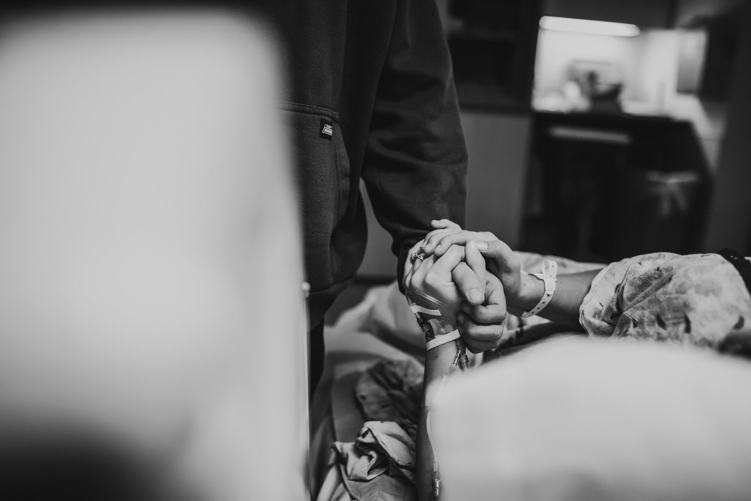 Holding hands during labor bronson methodist hospital