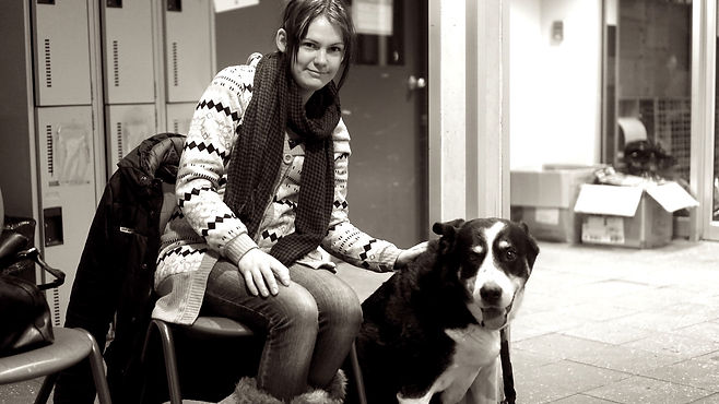 Young woman and her dog.jpg
