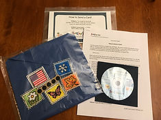 envelope, stamps and CD