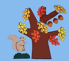 Mr. Squirrel's Secret blue background Ps