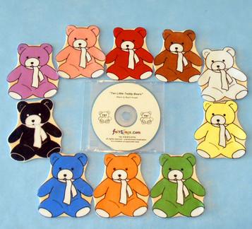 Ten Little Teddy Bears