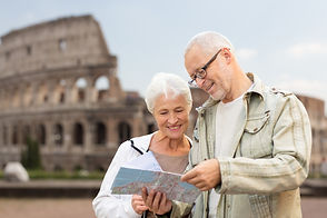 Medicare retired couple traveling