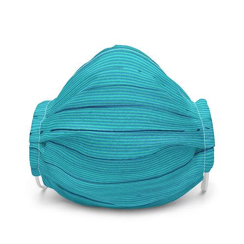 Blue Stripes Face Mask