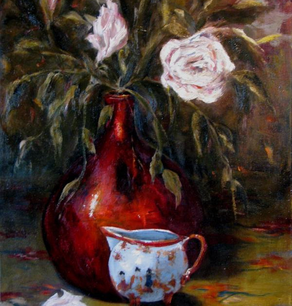 """ Copper Vase and Tea Pitcher """