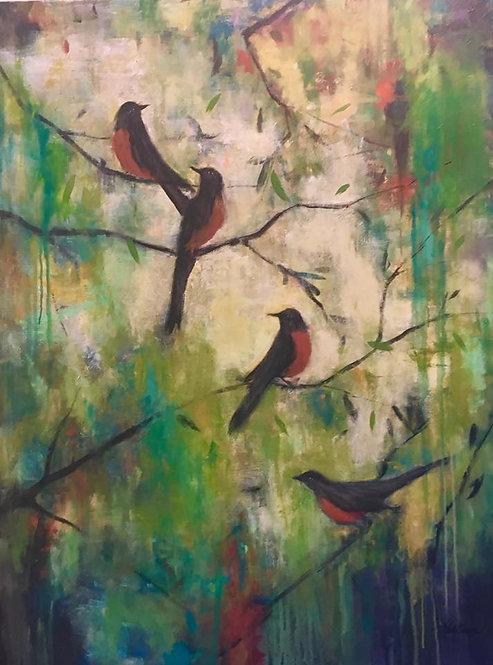 Landscape Bird Acrylic Class