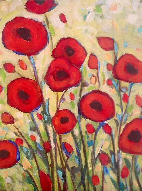 Acrylic Poppies May 14th