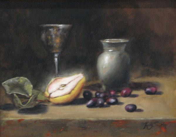 """ Goblet with Pear """