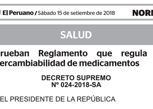 PERU (15-SEP-2018): New Bioequivalence Regulation for Peru