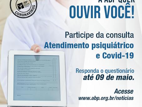 """Participe da consulta """"Atendimento psiquiátrico e Covid-19"""""""