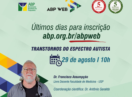 Últimos dias para inscrição no ABP Web sobre autismo!