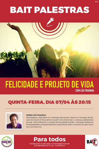 BAIT PALESTRAS - 07/04, QUINTA-FEIRA